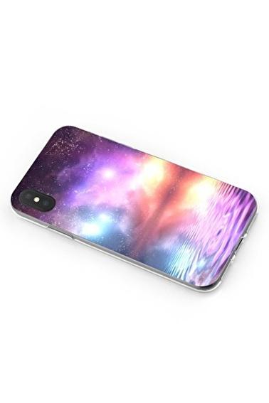 Lopard iPhone Xs Max Kılıf Silikon Arka Kapak Koruyucu Deniz ve Kuzey Işıkları Desenli Full HD Baskılı Renkli